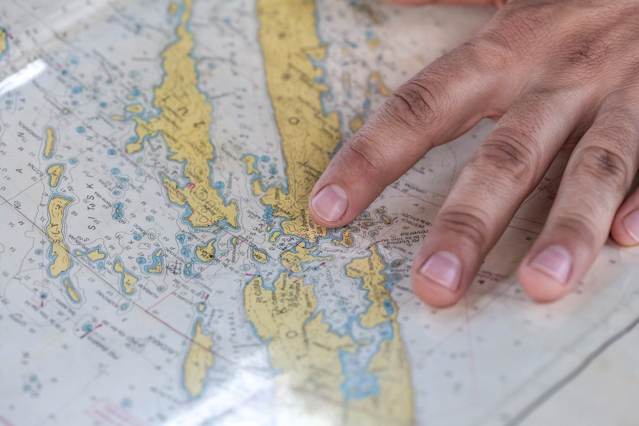 Finger der peger på verdenskort