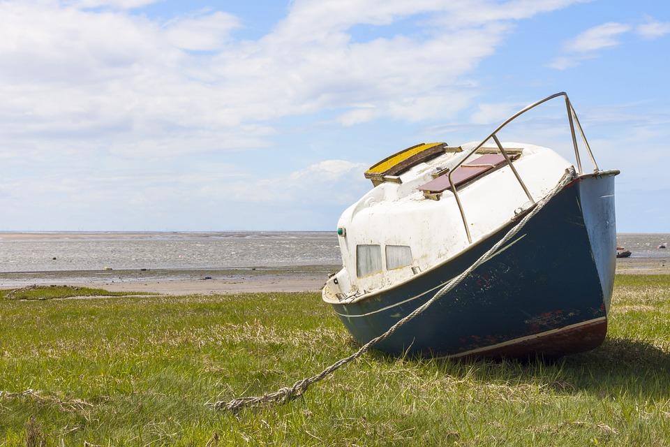 Båd på land